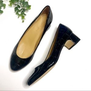 Talbot's | Black Patent Leather Block Heels